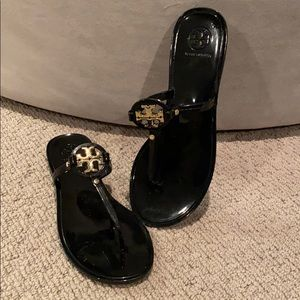 New Tory Burch Mini Miller jelly flats sandals